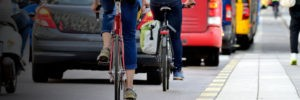 page banner - street traffic bikes and busses